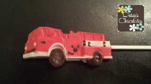 3001 Firetruck Chocolate Candy Lollipop Mold