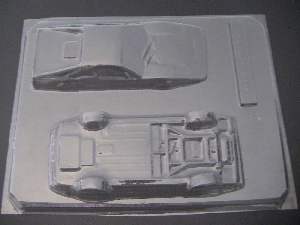 3016 Ferrari 3D Car Chocolate Candy Mold