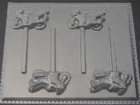 3019 Motorcycle Crotch Rocket Chocolate or Hard Candy Lollipop Mold