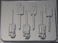 3012 Trucks Chocolate or Hard Candy Lollipop Mold