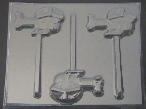3018 Helicopter Chocolate Candy Lollipop Mold