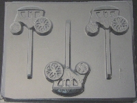 3020 Coach Carriage Chocolate or Hard Candy Lollipop Mold