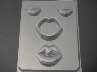 922 Lips Pour Box and Lid Chocolate Candy Mold