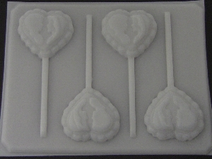 1013 Couple on Heart Chocolate or Hard Candy Lollipop Mold