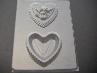 1019 Heart Pour Box Cherub Lid Chocolate Candy Mold