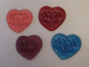 1023  Heart with Swans Chocolate or Hard Candy Lollipop Mold
