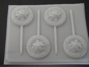 1009 Happy Anniversary Chocolate or Hard Candy Lollipop Mold