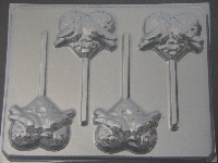 1001  Heart with Dove Chocolate or Hard Candy Lollipop Mold