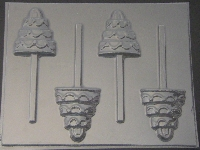 1002 Tiered Wedding Cake Chocolate or Hard Candy Lollipop Mold