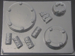 1007 Wedding Cake 3 Tier Stack Chocolate Candy Mold